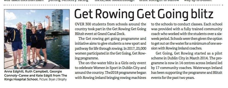 4 teenage girls, Get going get rowing Waterways Ireland Press PR photocall photographer www.1image.ie
