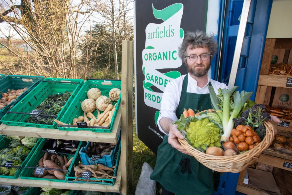 Airfield Farm Shop Photography with fresh organic produce